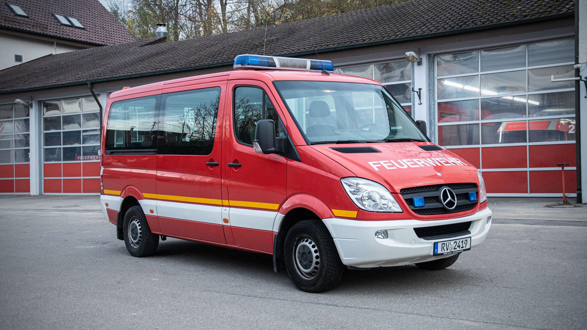 Mannschaftstransportwagen 1 der Feuerwehr Weingarten.