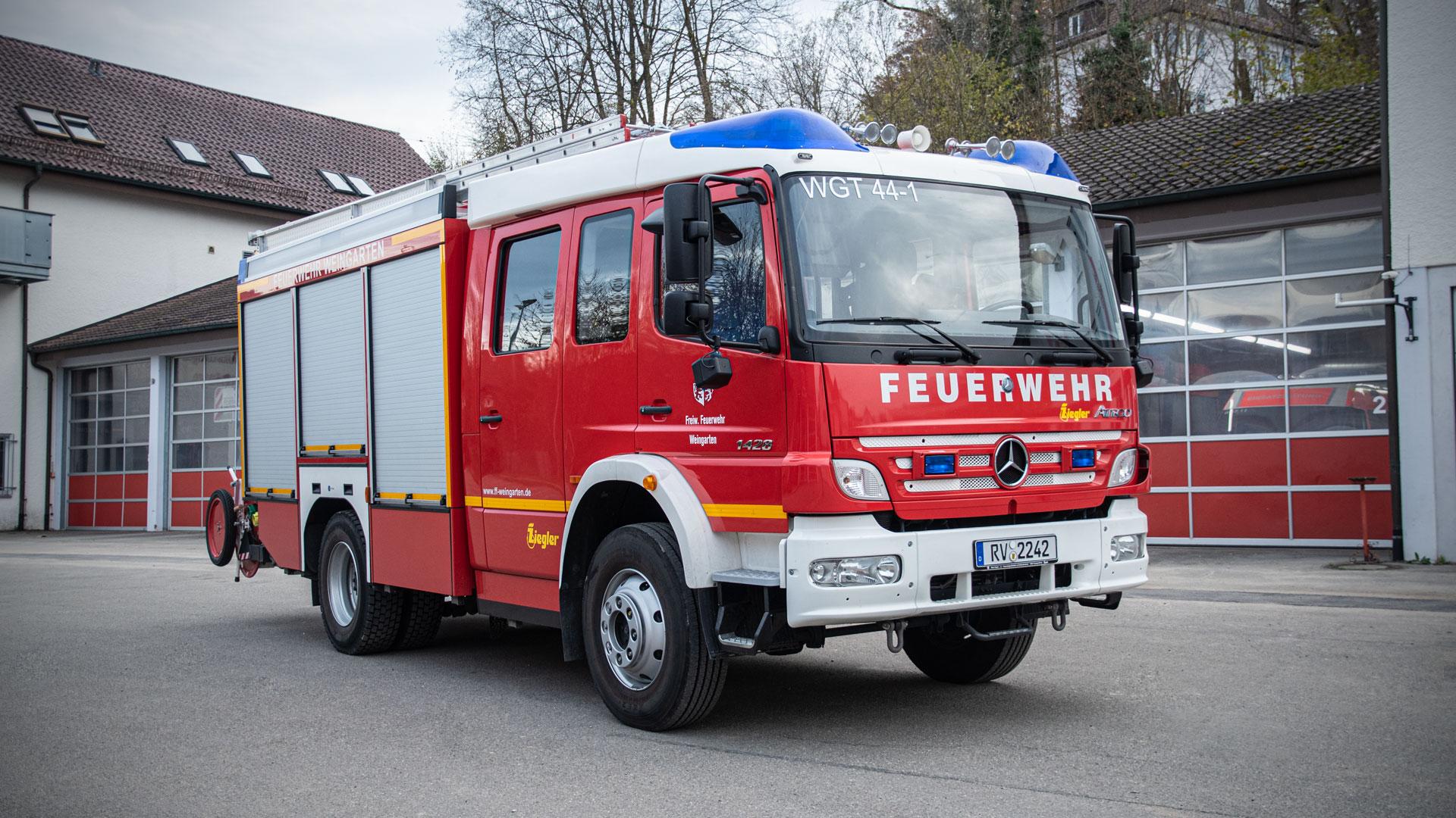 Löschgruppenfahrzeug 1 der Feuerwehr Weingarten.