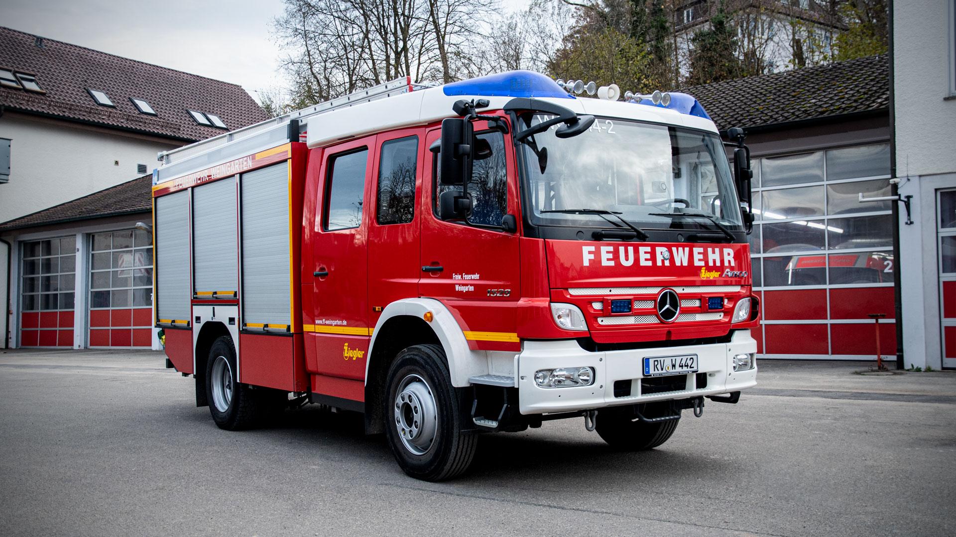 Löschgruppenfahrzeug 2 der Feuerwehr Weingarten.