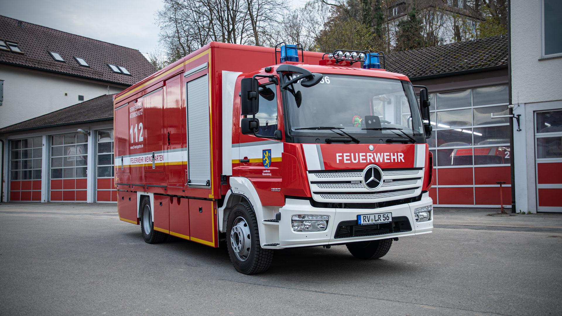 Gerätewagen-Atemschutz der Feuerwehr Weingarten.