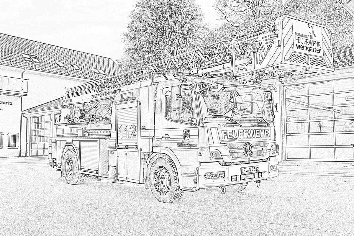 Feuerwehr-Ausmal-Challenge für Kinder – FREIWILLIGE FEUERWEHR