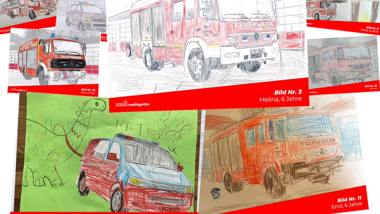 Feuerwehr-Ausmal-Wettbewerb: Platzierung