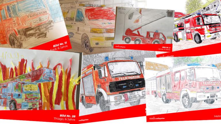 Feuerwehr-Ausmal-Wettbewerb – Ergebnisse